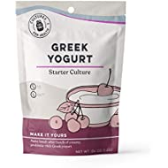 Greek Yogurt Starter Culture | Cultures for Health | Non GMO, Gluten Free | Makes Tart, Creamy Greek Yogurt