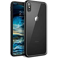 YOUMAKER Premium Crystal Clear Lightweight Shockproof Hybrid Case for All New Apple iPhone Xs Max 6.5 inch (Black)