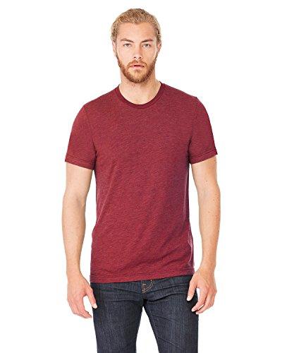 Bella+Canvas Perfect Tri-Blend Fashionable T-Shirt, Large, Cardinal - Sports Tri Inc