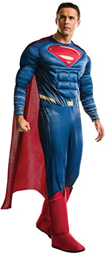 Super Plus Size Costumes (Rubie's Men's Batman v Superman: Dawn of Justice Deluxe Superman Plus Size Costume, Multi, One Size)