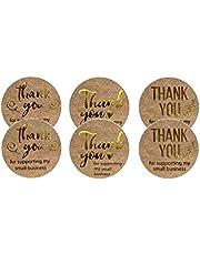 """بكرة ملصقات دائرية 1 بوصة 25 ملم بعبارة """"Thank you""""، 3 نماذج حديثة خطوط ذهبية، لبطاقات تهنئة مظروف هدايا لوازم التعبئة رقم ملصقات"""