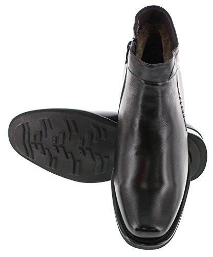 Calden-k50658-8,1cm Grande Taille-Hauteur Augmenter Chaussures ascenseur (robe noire Bottes)