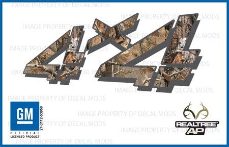 GMC Sierra RealTree AP 4x4 decals stickers - AP (1999-2006) bed side 1500 2500 HD (set of 2) ()