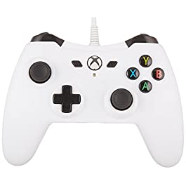 AmazonBasics Xbox One Wired Controller – 9.8 Foot USB Cable, White, Version 2