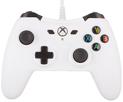 AmazonBasics Xbox One Wired Controller - 9.8 Foot USB Cable, White, Version 2
