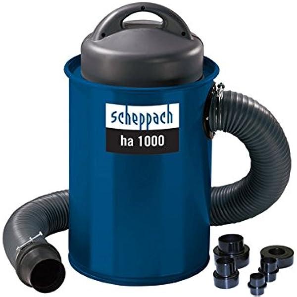 Scheppach HA1000 Aspirador para Carpintería Apto para Cualquier Herramienta Eléctrica, Fácil de Transportar, 50L, 183m3/L, 1100W: Amazon.es: Bricolaje y herramientas