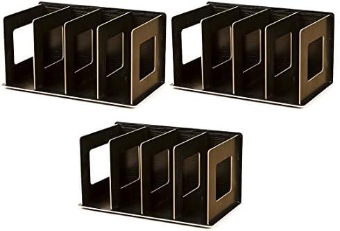 Lommer CD Accesorio de madera, 3pcs DIY CD/DVD soporte de almacenamiento estante de almacenamiento de CD/DVD Libro accesorio de soporte para hogar y oficina, madera, negro, 30.5*15*17cm: Amazon.es: Hogar