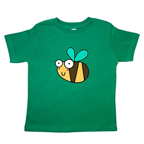 - inktastic - Bee Toddler T-Shirt 2T Kelly Green - Flossy and Jim