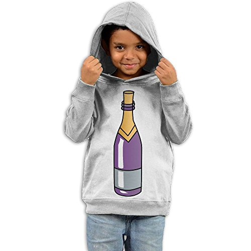 Purple Wine Bottle Fashion Boys and Girls Pullover Hoodie Sweatshirt -Gift For Kids White 3 Toddler (Sweater Holder Bottle Wine)