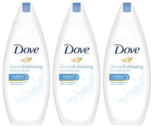 3 Pk. Dove Gentle Exfoliating Body Wash with Nutrium Moisture 16.9 Oz
