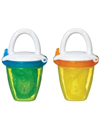 Munchkin Deluxe Fresh Food Feeder, Yellow/Green, 2 Count BOBEBE Online Baby Store From New York to Miami and Los Angeles