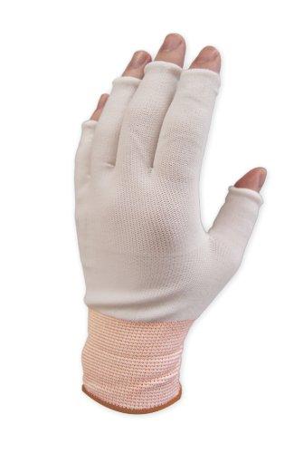 Purus GLHF-M Nylon Half Finger Knit Glove Liner Cuff, 1.7 Mils Thick, Medium (Pack of 300 Pairs) by Purus