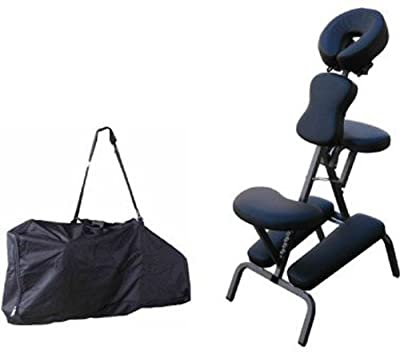 Portable Massage Chair Comfort 4 Thick Foam Light Weight Best Massage Brand With Free Carrying Bag BLACK by BestMassage
