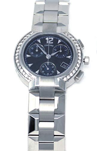 Concord La Scala Chronograph with Diamond Markers and Diamond Bezel Men's Watch (Chronograph La Concord Scala)