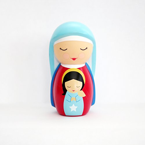 Shining Light Dolls LLC St. Anne Collectible Vinyl Figure with Story and Prayer Card (Saint Catherine Of Siena Facts For Kids)