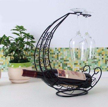 Estante Vino Vidrio Estanteria Para Envases Vidrio Estante Decoración Madera Negro Vinos