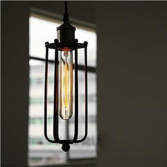 long pendant lighting. bokt perfectshow minimalist 1light industrial edison wrought iron hanging light black loft long cage pendant lighting