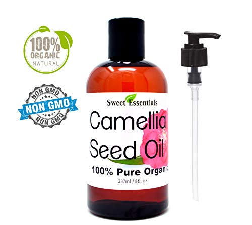Organic Camellia Seed Oil | Imported From Japan | 8oz Bottle | 100% Pure | 100% Organic | For Hair & Skin Use | Japanese Beauty Oil | Camellia Oleifera