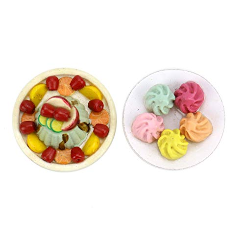 AQUEENLY 1:12 Dollhouse Food, Cute Dessert Miniature Dollhouse Food for Kids, Adult, Party Favor