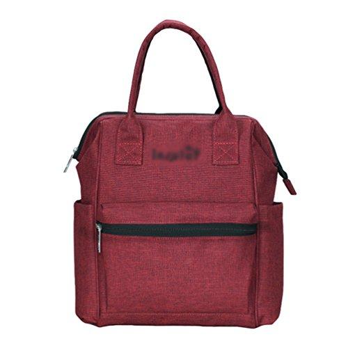 Anguang Bebé Pañal Bolso Mochila de Diseño de Moda para Mamá y Papá Bolso para Carritos Rojo 1