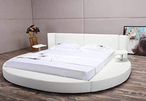 oslo x round bed king size white buy online in uae matisse products in the uae see. Black Bedroom Furniture Sets. Home Design Ideas