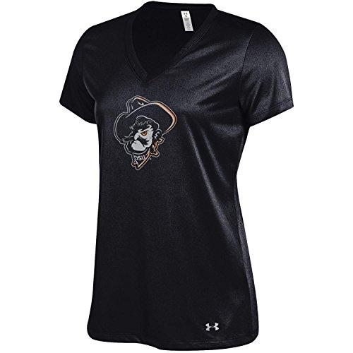 Under Armour NCAA Oklahoma State Cowboys Women's Tech V-Neck Tee, X-Large, Black