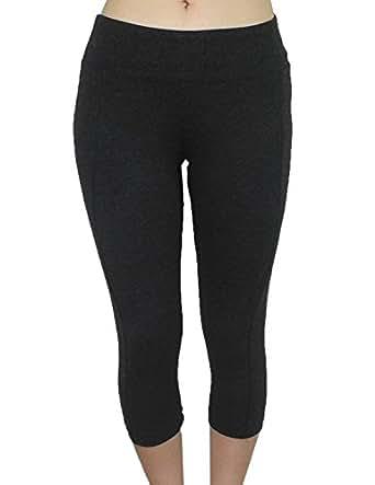 Marika Womens Professional Sports Skinny Leggings / Yoga Capri Pants XL Dark Grey