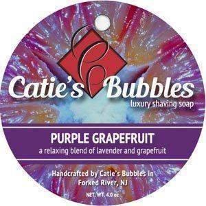 Catie's Bubbles Shaving Soap, Purple Grapefruit, 4oz. by Catie's Bubbles