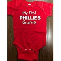 My first Phillies game baby one piece Philadelphia Phillies 1st game infant bodysuit