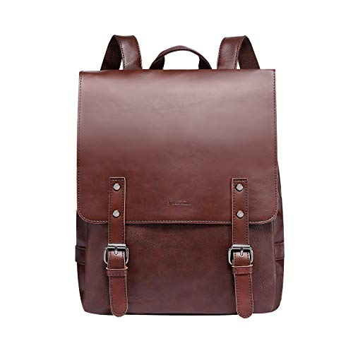 - Zebella Pu Crazy Horse Leather-Like Vintage Women's Backpack School Bag Weekender Daypack-Coffee