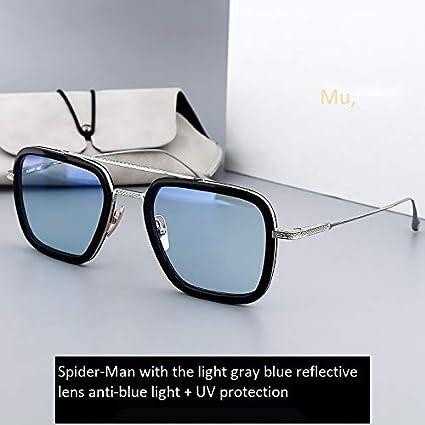 Gafas de sol hombre miopía gafas de sol espejo cuadrado luz ...