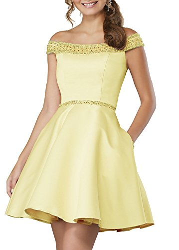 Beaded Women's S085 Dresses Short Gowns 2018 Sparkly Homecoming Yellow Prom Sequined REAEq