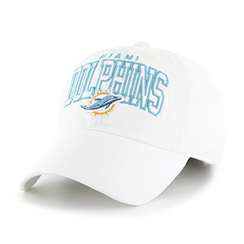 (NFL Miami Dolphins Men's Tomlin OTS Clincher Stretch Fit Hat, Alternate White, Large/X-Large)