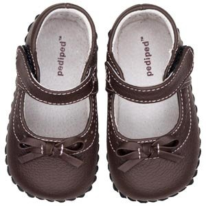 pediped Originals Isabella Mary Jane (Infant),Chocolate Brown,Small (6-12 Months) Infant Chocolate