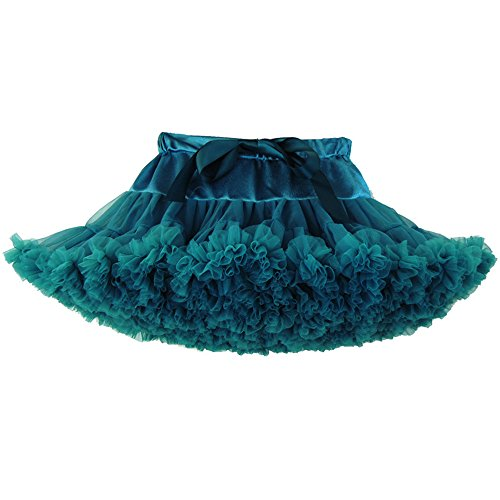 Peacock Tutu Skirt (Luckyauction Toddler Girl's Dance Tutu Skirts Layered Ballerina Princess Tutu Skirt,Peacock Green)