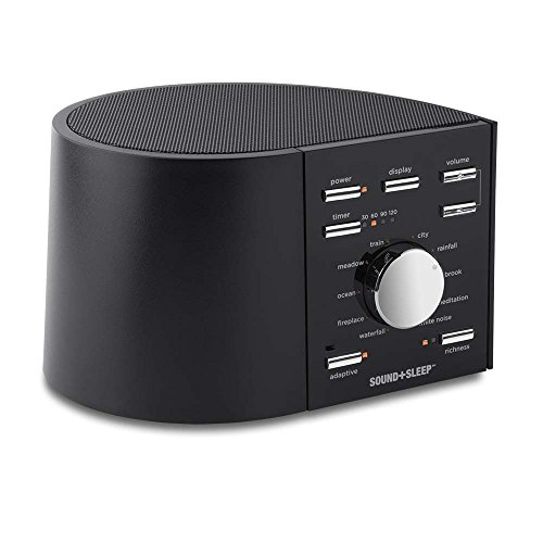 Sound+Sleep High Fidelity Sleep Sound Machine with Real Non-Looping Nature Sounds, Fan Sounds, White Noise, and Adaptive...