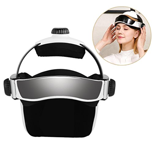 Electric Head Massager, Multi-directional Intelligent Air Pressure Vibration Finger Press Malaxation Massage, Music Soothing Relax Helmet Type Massager