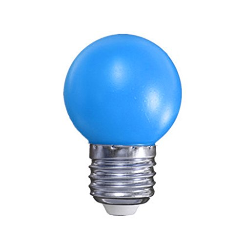 AlexGT Colorful 1W E27 Round LED Golf Ball Light Energy Saving Mini Bulb Lamp ()