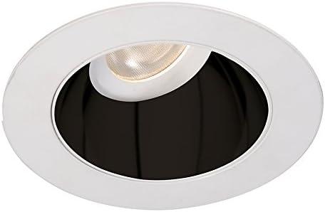Specular Black//White WAC Lighting HR3LEDT318PN827BWT Tesla PRO 3.5 LED Round 0-30 Degree Adjustable Trim with Light Engine 2700K Narrow Beam, 80+ CRI
