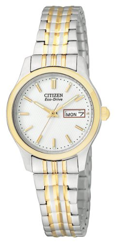 - Citizen Women's Eco-Drive Expansion Band Watch with Day/Date, EW3154-90A