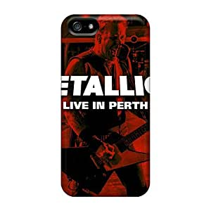 Iphone 5/5s RtU10754TABz Support Personal Customs Stylish Metallica Image Shockproof Hard Cell-phone Case -AaronBlanchette