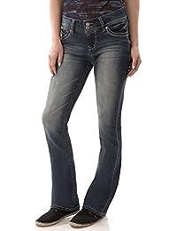 WallFlower Juniors Luscious Curvy Basic Bootcut Jeans