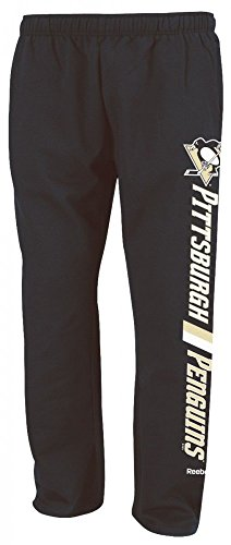 Reebok Penguins (Pittsburgh Penguins Reebok NHL Men's Sweatpants - Black)