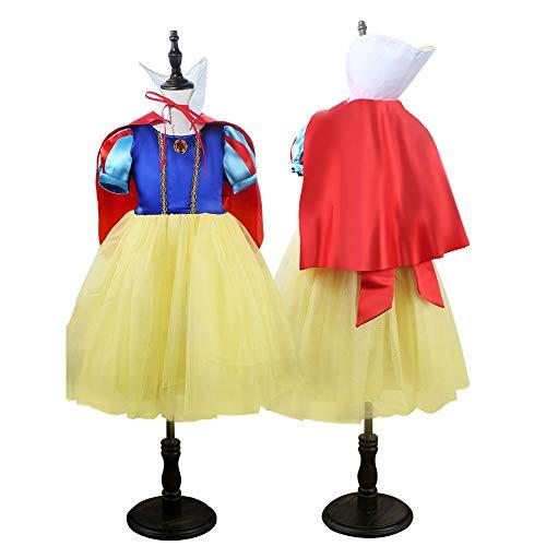 HOU FEI NIAO Dance Costume - Women's Tutu Snow White Cosplay Masquerade Dresses Kindergarten Performance Costumes (Color : Blue, Size : 130cm) -