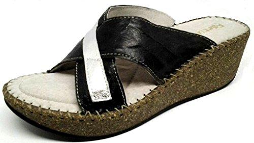 La coccinella - Zapatillas de estar por casa de Piel para mujer negro negro 37