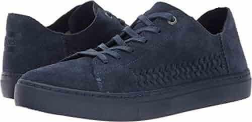ab381358383 TOMS Women s Lenox Sneaker Navy Monochrome Deconstructed Suede Woven Panel  12 B US