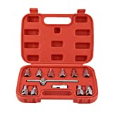 12PCS Oil Drain Sump Plugs Removal Replacement Tool Key Socket Set Oil Sump Spanner Gearbox Axel Removal Wrench Kits - Silver
