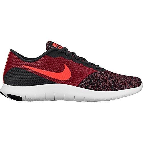 Mens Nike Flex Contact Scarpa Da Corsa Nero / Total Crimson-gym Rosso-bianco