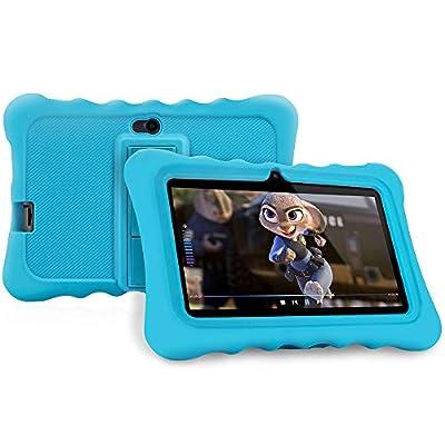 Ainol 7C08x-Tablet infantil de Android 8.1,tablet para niños de 7pulgadas,regalo para niños,1GB+16GB con wifi,doble cámara,tablet de Bob Esponja,juegos educativos,Azul 8
