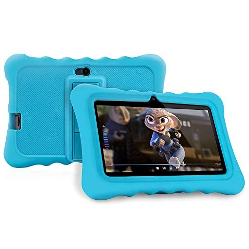 Tablet para niños con WiFi de 7 Pulgadas,Tablet Infantil de Android 7.1, Regalo para niños,Tablet portátil de Quad Core 1GB+8GB,Soporta Tarjeta TF 64GB,Doble cámara,Juegos educativos 1